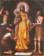 Virgen de la Candelaria_entre_guanches