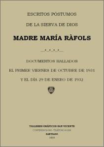 MadreMaríaRafols_Escritos póstumos