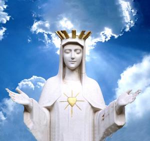 NS de Beauraing_Virgen-del-Corazón-de-Oro