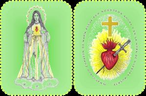 Escapulario Verde del Corazón de María