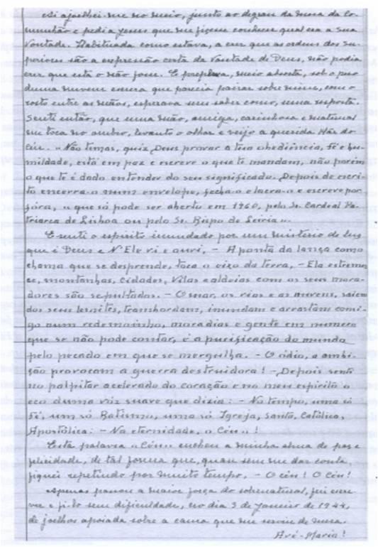 Sor Lucía_manuscrito
