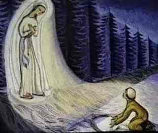 Virgen de los pobres_banneux_painting