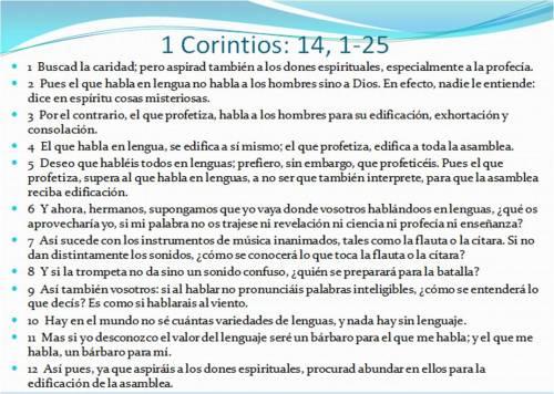 0 1Corintios 14,1-25