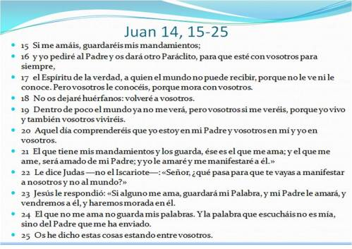 0 Juan 14,15-25
