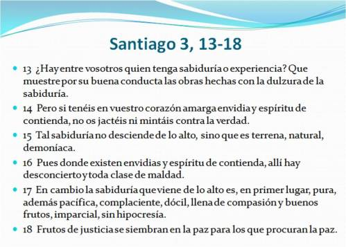 0 Santiago 3,13-18