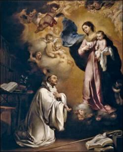 San Bernardo_Aparición de la Virgen-Murillo