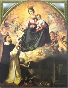 Santo Domingo de Guzmán_aparición Virgen del Rosario