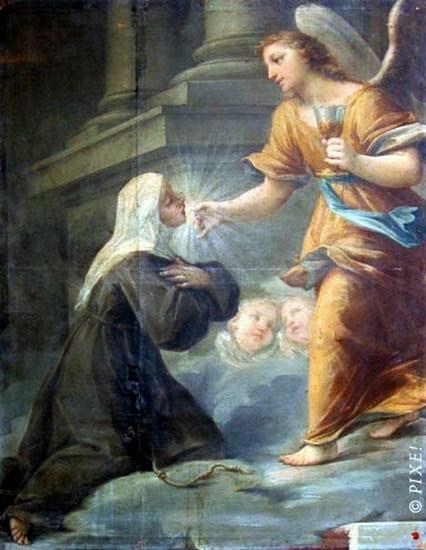 Resultado de imagen para BEATA ÁNGELA DE FOLIGNO y su angel de la guarda